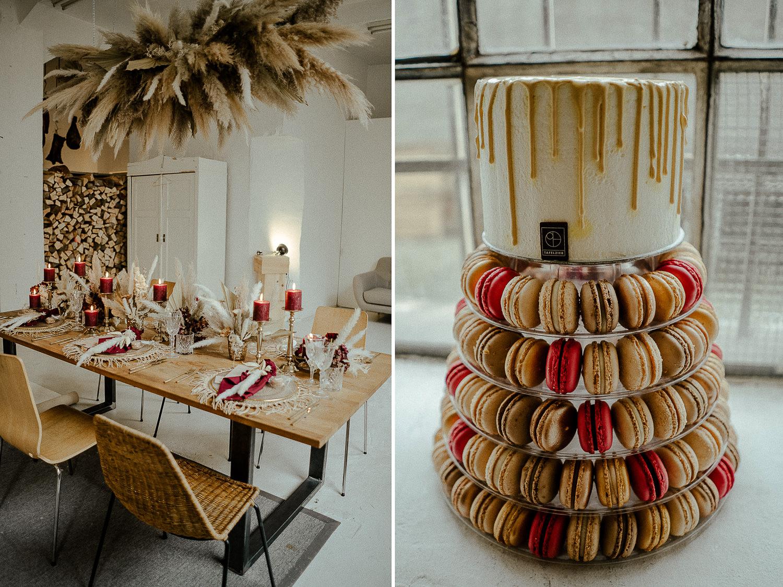 Hochzeitsworkshop Grace Food Nürnberg Hochzeitsreportage Tafelzier Hochzeitstorte Macarons Meindekodesign